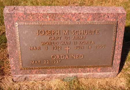 SCHULTE, JOSEPH M. - Dallas County, Iowa | JOSEPH M. SCHULTE