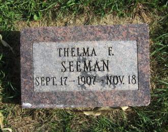 SEEMAN, THELMA F - Dallas County, Iowa | THELMA F SEEMAN