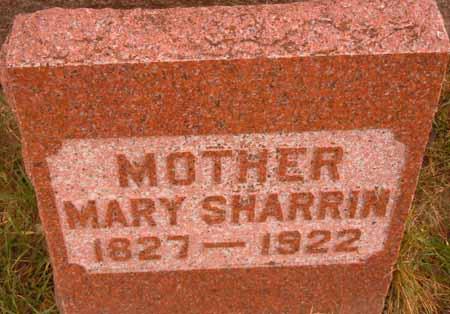 SHARRIN, MARY - Dallas County, Iowa   MARY SHARRIN