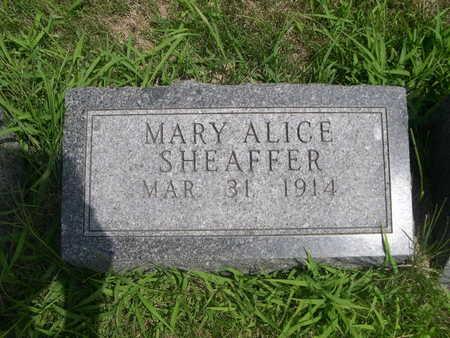 SHEAFFER, MARY ALICE - Dallas County, Iowa | MARY ALICE SHEAFFER
