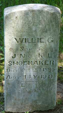SHOEMAKER, WILLIE G - Dallas County, Iowa   WILLIE G SHOEMAKER