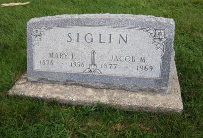 SIGLIN, MARY F - Dallas County, Iowa   MARY F SIGLIN