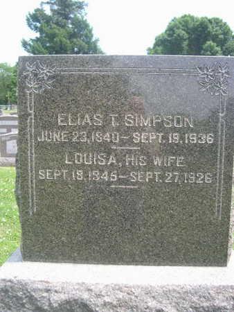SIMPSON, ELIAS T. - Dallas County, Iowa | ELIAS T. SIMPSON