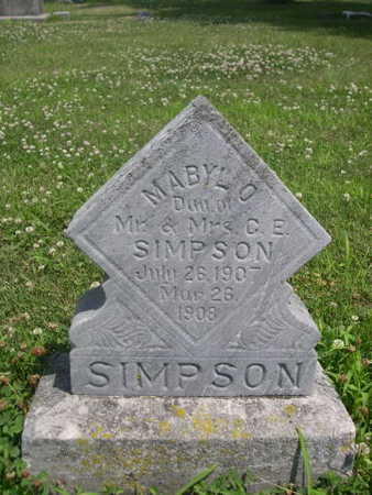 SIMPSON, MABYLO - Dallas County, Iowa | MABYLO SIMPSON
