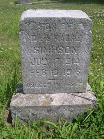 SIMPSON, SON OF C.E. - Dallas County, Iowa   SON OF C.E. SIMPSON
