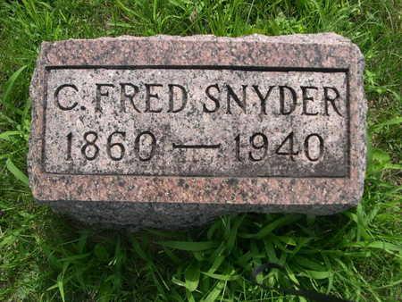SNYDER, C. FRED - Dallas County, Iowa   C. FRED SNYDER