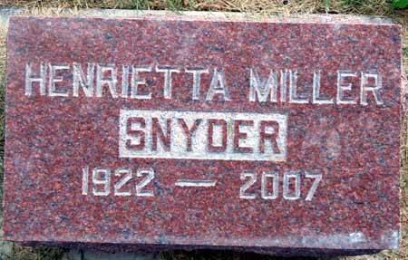 SNYDER, HENRIETTA - Dallas County, Iowa | HENRIETTA SNYDER