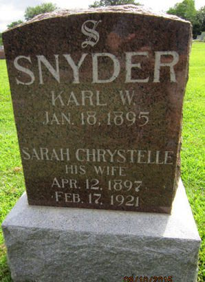 SNYDER, SARAH CHRYSTELLE - Dallas County, Iowa   SARAH CHRYSTELLE SNYDER