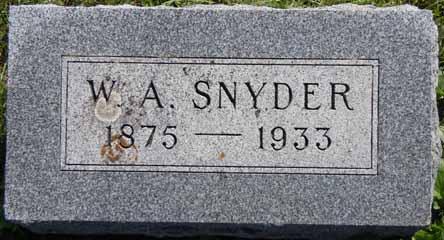 SNYDER, W A - Dallas County, Iowa   W A SNYDER