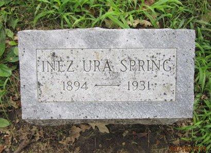 SPRING, INEZ URA - Dallas County, Iowa   INEZ URA SPRING