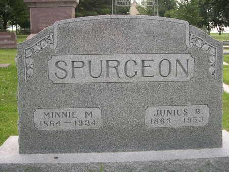 SPURGEON, JUNIUS B. - Dallas County, Iowa   JUNIUS B. SPURGEON