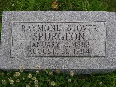 SPURGEON, RAYMOND STOVER - Dallas County, Iowa | RAYMOND STOVER SPURGEON