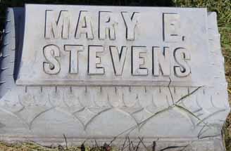 STEVENS, MARY E - Dallas County, Iowa   MARY E STEVENS