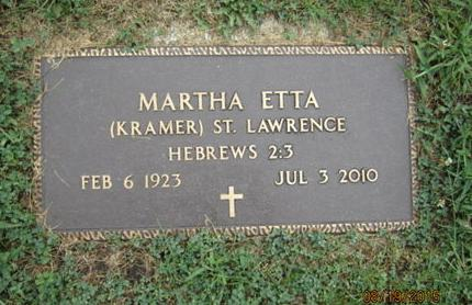 KRAMER ST LAWRENCE, MARTHA ETTA - Dallas County, Iowa | MARTHA ETTA KRAMER ST LAWRENCE