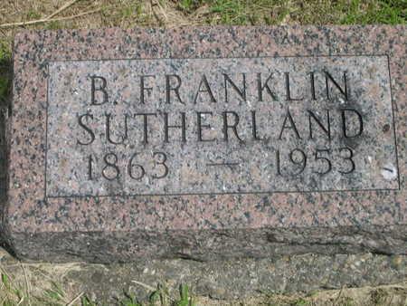 SUTHERLAND, B. FRANKLIN - Dallas County, Iowa   B. FRANKLIN SUTHERLAND
