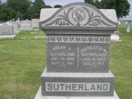SUTHERLAND, ANZOLETTA M. - Dallas County, Iowa | ANZOLETTA M. SUTHERLAND