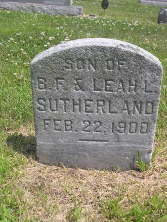 SUTHERLAND, SON OF B.F. - Dallas County, Iowa | SON OF B.F. SUTHERLAND