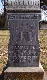 TAYLOR, ANNA M - Dallas County, Iowa | ANNA M TAYLOR