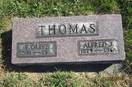 THOMAS, ALFRED J - Dallas County, Iowa   ALFRED J THOMAS