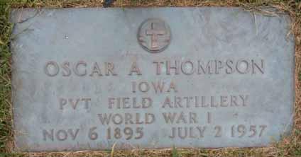 THOMPSON, OSCAR A - Dallas County, Iowa | OSCAR A THOMPSON