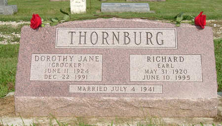 CROCKER THORNBURG, DOROTHY JANE - Dallas County, Iowa | DOROTHY JANE CROCKER THORNBURG