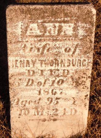 THORNBURG, ANNE - Dallas County, Iowa   ANNE THORNBURG