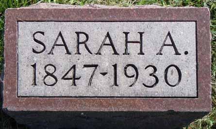 VAN DEUSEN, SARAH A - Dallas County, Iowa | SARAH A VAN DEUSEN