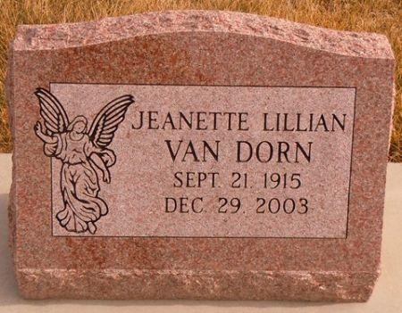 VAN DORN, JEANETTE LILLIAN - Dallas County, Iowa   JEANETTE LILLIAN VAN DORN