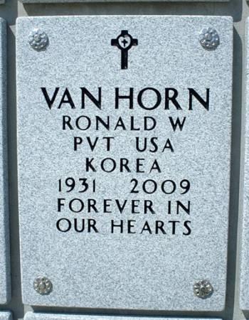 VAN HORN, RONALD W. - Dallas County, Iowa   RONALD W. VAN HORN