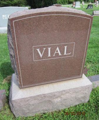 VIAL, FAMILY STONE - Dallas County, Iowa   FAMILY STONE VIAL
