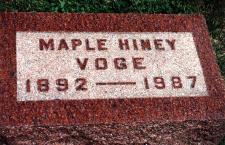 HINEY VOGE, MAPLE - Dallas County, Iowa | MAPLE HINEY VOGE