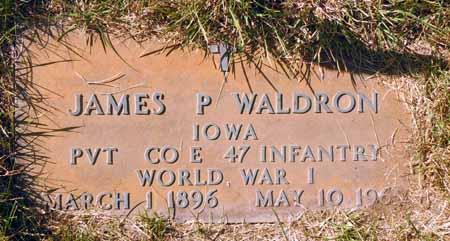 WALDRON, JAMES P. - Dallas County, Iowa   JAMES P. WALDRON
