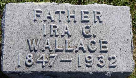 WALLACE, IRA G - Dallas County, Iowa   IRA G WALLACE