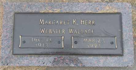 WEBSTER WALLACE, MARGARET K - Dallas County, Iowa   MARGARET K WEBSTER WALLACE