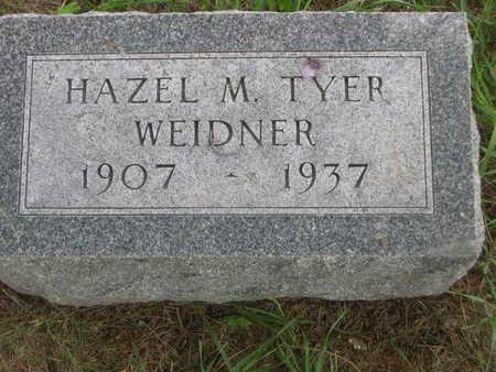 WEIDNER, HAZEL M. TYER - Dallas County, Iowa | HAZEL M. TYER WEIDNER
