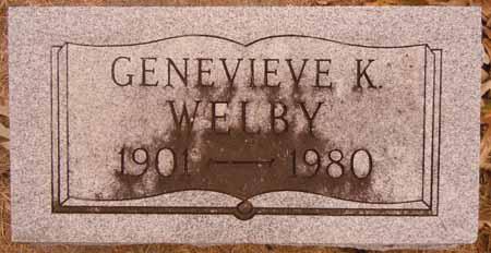 WELBY, GENEVIEVE K. - Dallas County, Iowa | GENEVIEVE K. WELBY