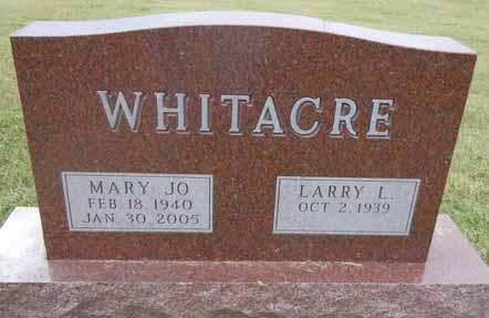 WHITACRE, MARY JO - Dallas County, Iowa | MARY JO WHITACRE