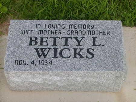 WICKS, BETTY L. - Dallas County, Iowa | BETTY L. WICKS
