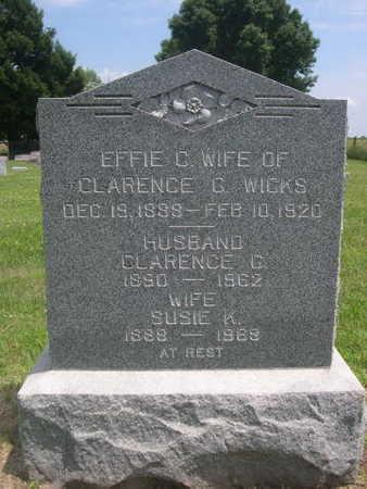 WICKS, CLARENCE G. - Dallas County, Iowa | CLARENCE G. WICKS