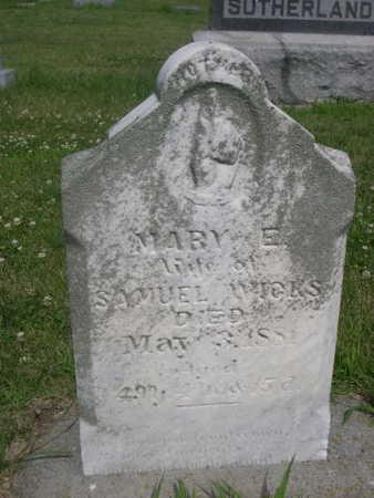 WICKS, MARY E. - Dallas County, Iowa | MARY E. WICKS