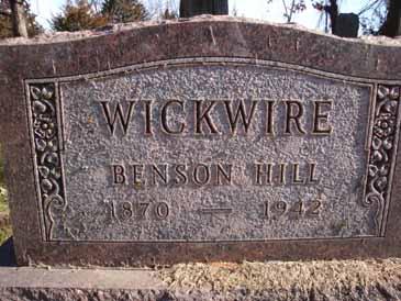 WICKWIRE, BENSON HILL - Dallas County, Iowa | BENSON HILL WICKWIRE