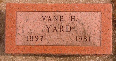 YARD, VANE H. - Dallas County, Iowa   VANE H. YARD