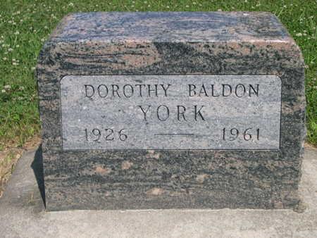 YORK, DOROTHY BALDON - Dallas County, Iowa | DOROTHY BALDON YORK