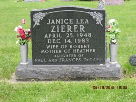 ZIERER, JANICE LEA - Dallas County, Iowa | JANICE LEA ZIERER
