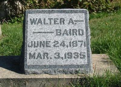 BAIRD, WALTER A. - Davis County, Iowa | WALTER A. BAIRD