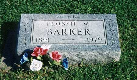 BARKER, FLOSSIE W - Davis County, Iowa   FLOSSIE W BARKER
