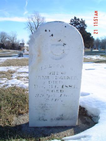 BARKER, REBECA G. - Davis County, Iowa   REBECA G. BARKER