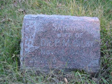 BILBY, SARAH E. - Davis County, Iowa | SARAH E. BILBY