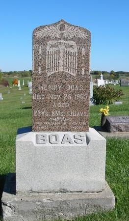 BOAS, HENRY - Davis County, Iowa | HENRY BOAS