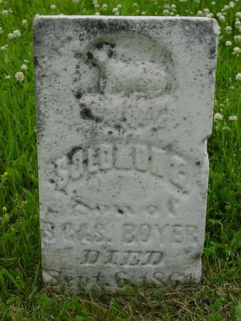 BOYER, SOLOMON G. - Davis County, Iowa | SOLOMON G. BOYER